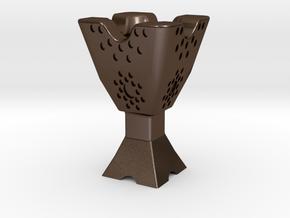 Mabkhara (Censer / Incense Burner) in Polished Bronze Steel