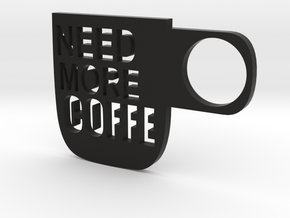 Coffe Wall Decoration in Black Natural Versatile Plastic