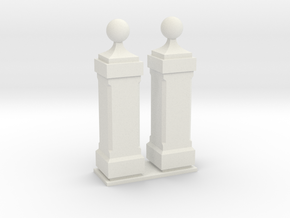 Bollard TOLEDO TYPE 2 in White Natural Versatile Plastic