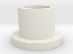 Charge Port Holder 5/8th inner dia in White Natural Versatile Plastic