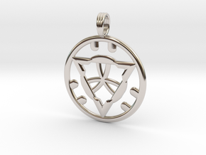 SACRED GROUND in Rhodium Plated