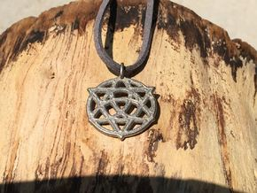 TrinityStarr Pendant (Transformation Symbol) in Polished Nickel Steel