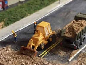 Caterpillar 416 Backhoe - Zscale in Smooth Fine Detail Plastic