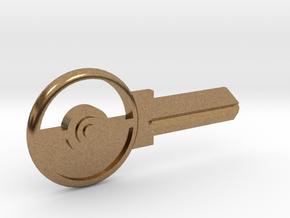 Pokeball House Key Blank - SC1/68 in Natural Brass