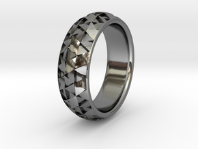Hexmo Ring in Fine Detail Polished Silver