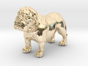 Bull Dog mini size (color) in 14K Yellow Gold