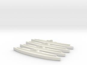 U-549 (WSF) (Type IXC/40) x4 in White Natural Versatile Plastic