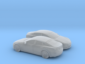 1/148 2X 2012-16 Tesla Model S in Smooth Fine Detail Plastic