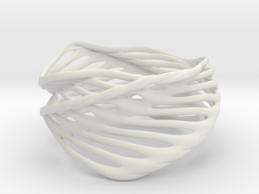 Mila Spiral (size M) in White Natural Versatile Plastic