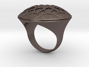 Ring Arabesk in Polished Bronzed Silver Steel