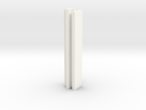 Set-1 Wall Connector - Outside Corner in White Processed Versatile Plastic