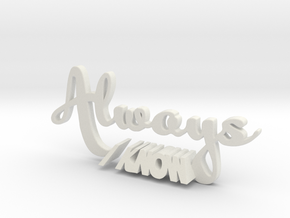 """Always I Know"" Star Wars/Harry Potter Cake Topper in White Natural Versatile Plastic"