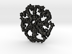 messy flower in Matte Black Steel