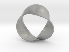 0158 Mobius strip (p=3, d=10cm) #006 in Aluminum