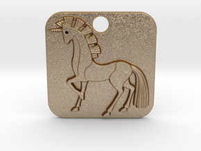 Unicorn Pendant in Matte Gold Steel
