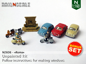 BONUS SET Roma (N 1:160)  in Smoothest Fine Detail Plastic