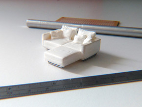 L Shaped Sofa Esc: 1:50 in White Strong & Flexible
