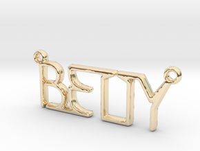 BETTY First Name Pendant in 14k Gold Plated Brass