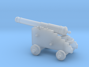 18th Century 6# Cannon-Naval Carriage 1/125 in Smooth Fine Detail Plastic
