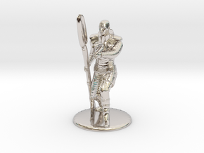 Jaffa Guard Firing his Zat - 20mm tall in Rhodium Plated Brass