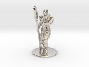 Jaffa Guard Firing his Zat - 20mm tall in Rhodium Plated Brass
