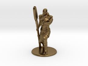 Jaffa Guard Firing his Zat - 20mm tall in Natural Bronze
