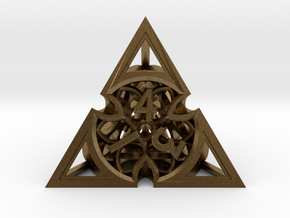 Gothic Rosette d4 in Natural Bronze