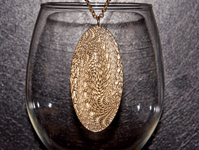 Texture #5 Pendant in Natural Brass