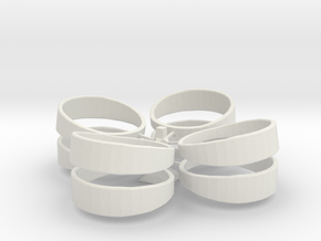 Basic Ring Set With Spru in White Strong & Flexible