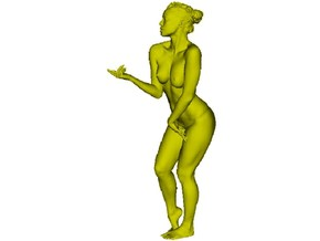 1/35 scale nude beach girl posing figure B in Frosted Ultra Detail
