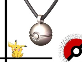 POKEBALL Pendant in Polished Nickel Steel