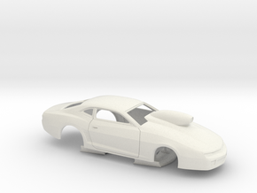 1/25 USDR Certified 2013 Pro Stock Camaro Slot Car in White Natural Versatile Plastic