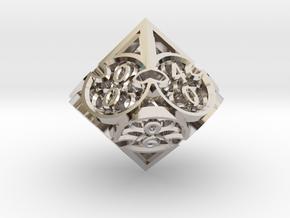 Gothic Rosette d10 Decader in Platinum