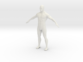 1/12 Male Figure for Diorama in White Strong & Flexible