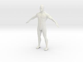 1/12 Male Figure for Diorama in White Natural Versatile Plastic