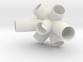 150114 Cluster - Side 2 in White Natural Versatile Plastic