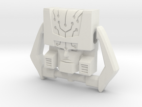 Headmaster, G1 Neutral Face (Titans Return) in White Natural Versatile Plastic
