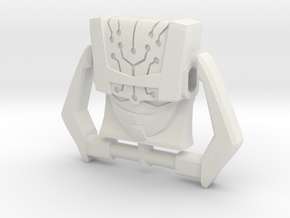 Headmaster, Animated Face (Titans Return) in White Strong & Flexible