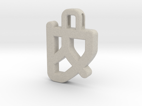Darwen Heart lock Pendents XL in Natural Sandstone