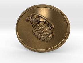 Booommm Belt Buckle in Natural Bronze