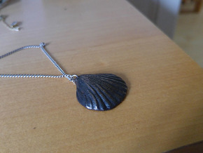 Clam necklace in Polished and Bronzed Black Steel