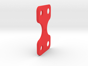 5 Deg GFRP Kick up Shim in Red Processed Versatile Plastic