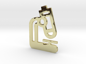 Microscope Pendant Jewelry in 18k Gold