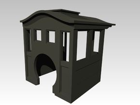 HOn30 0-4-0 Pagoda Roof Cab (Closed) in Smooth Fine Detail Plastic