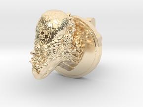 Pachycephalosaurus Head Cufflink in 14k Gold Plated Brass