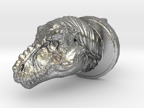 Trex Head2 Cufflink in Raw Silver