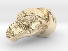 Trex Head2 Cufflink in 14K Yellow Gold