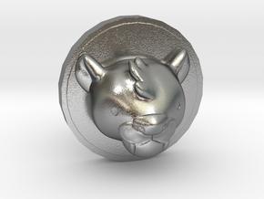 Milo Cufflink in Natural Silver
