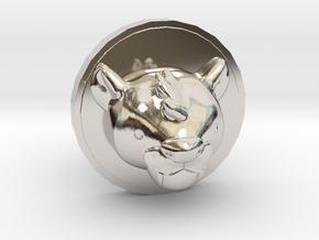 Milo Cufflink in Rhodium Plated Brass
