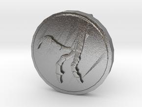 Raptor Claw Cufflink in Natural Silver